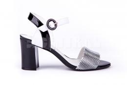 Sandały Loretta Vitale 8732 Czarno-biały